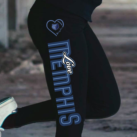 Love Memphis Grizzlies Cotton Leggings