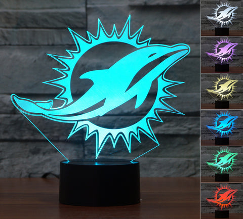 "Miami Dolphins ""Logo"" - 3D LED Lamp/Night Light"