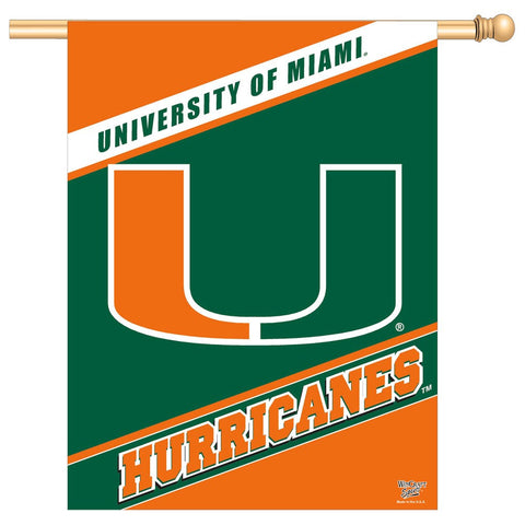 "Miami (Florida), University of 27"" x 37"" Vertical Banner Flag"