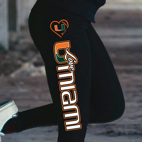 Love Miami Hurriccanes Cotton Leggings
