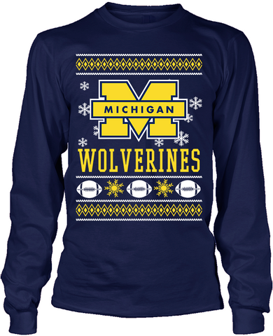 Michigan Wolverines Holiday Sweater