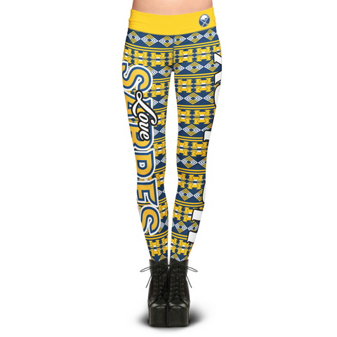 Buffalo Sabers Aztec Print Leggings
