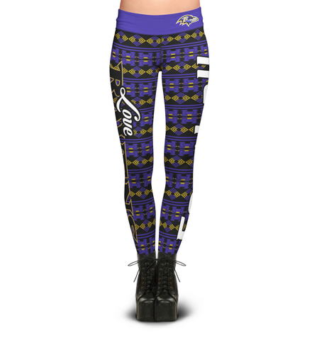 Baltimore Ravens Aztec Print Leggings