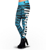 Carolina Panthers Zebra Print Leggings