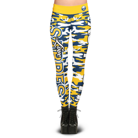 Buffalo Sabers Camo Print Leggings