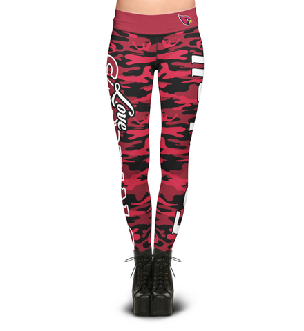 Arizona Cardinals Camo Print Leggings