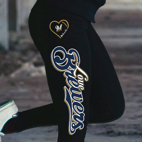 Love Milwaukee Brewers Cotton Leggings