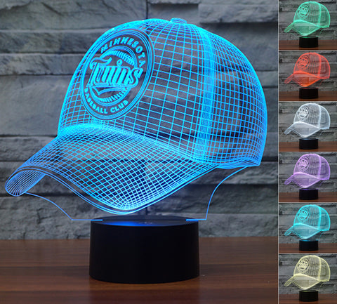 "Minnesota Twins ""Baseball Cap"" - 3D LED Lamp/Night Light"