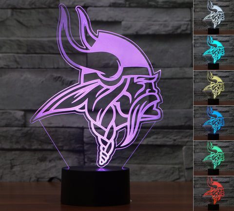"Minnesota Vikings ""Logo"" - 3D LED Lamp/Night Light"