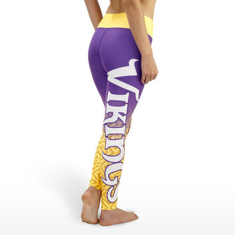 Minnesota Vikings Gradient Print Leggings