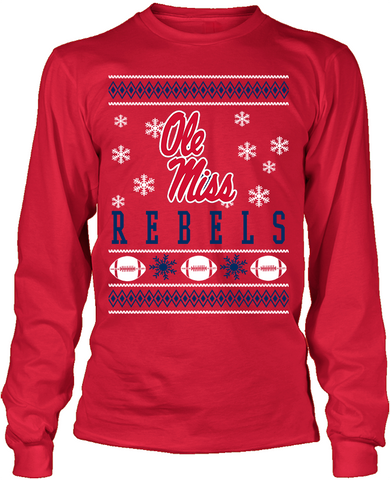 Mississippi Rebels Holiday Sweater