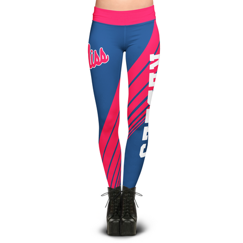 Mississippi Rebels Dynamic Sublimation Leggings