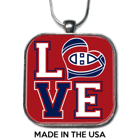 Love Montreal Canadiens Necklace