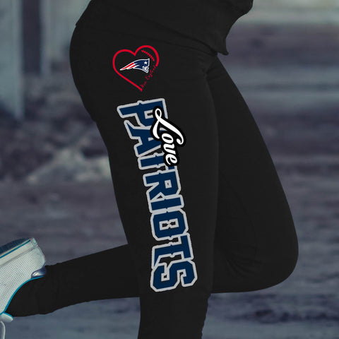 Love New England Patriots Cotton Leggings