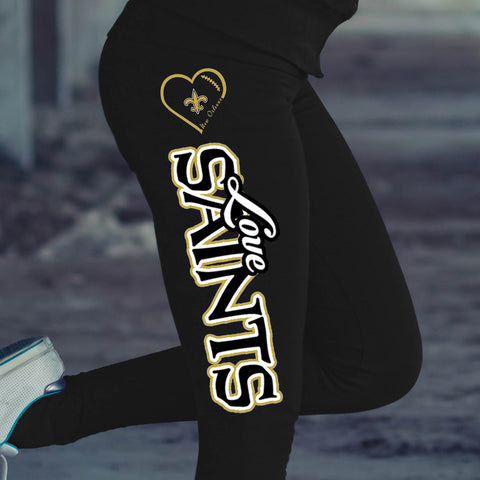 Love New Orleans Saints Cotton Leggings