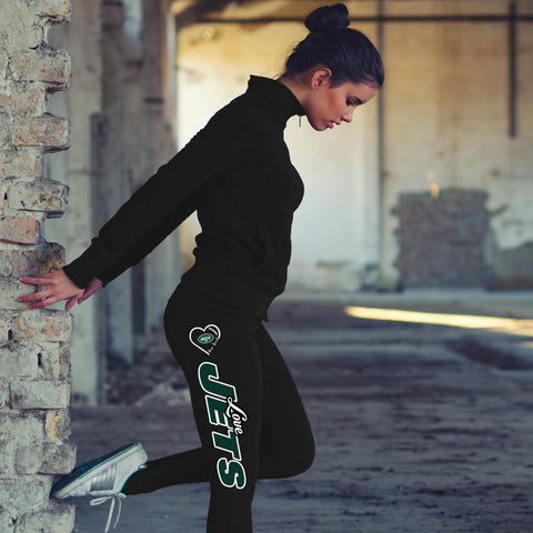 Love New York Jets Cotton Leggings