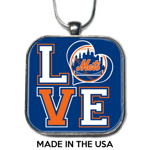 Love New York Mets Necklace