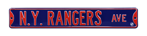 New York Rangers Ave Sign