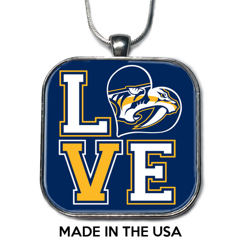 Love Nashville Predators Necklace