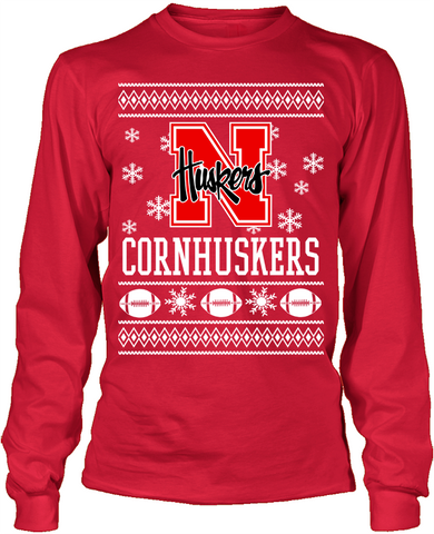 Nebraska Cornhuskers Holiday Sweater