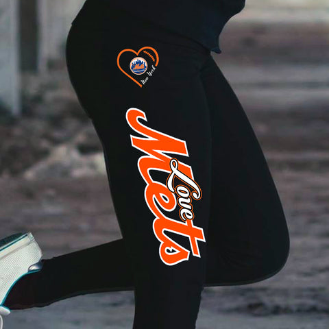 Love New York Mets Cotton Leggings