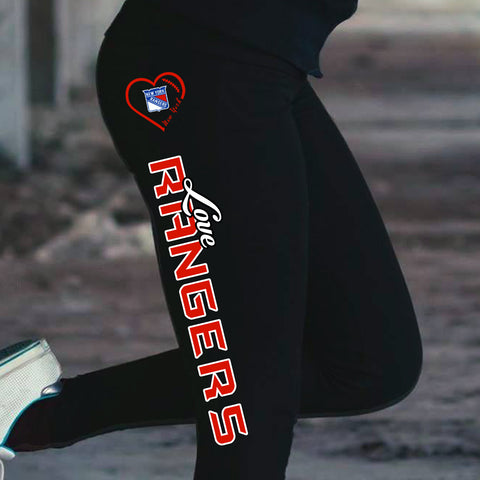 Love New York Rangers Cotton Leggings