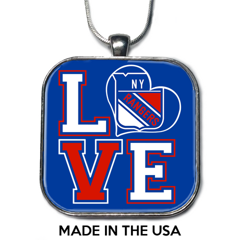 Love New York Rangers Necklace
