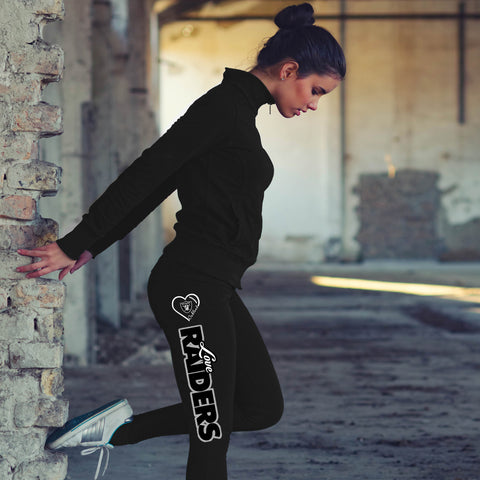 Love Oakland Raiders Cotton Leggings