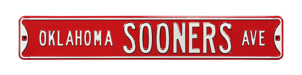Oklahoma Sooners Ave Sign