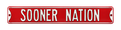 Oklahoma Sooners Nation Street Sign