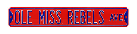 Mississippi Rebels Ave Sign