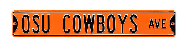 Oklahoma State Cowboys Ave Sign