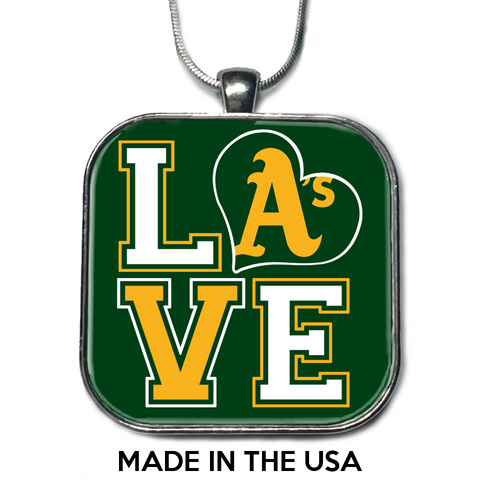 Love Oakland Athletics Necklace