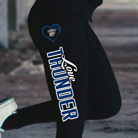 Love Oklahoma City Thunder Cotton Leggings