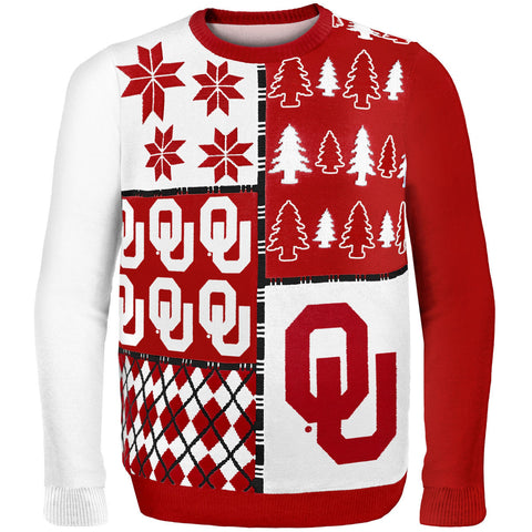 Oklahoma Sooners Busy Block Ugly Sweater