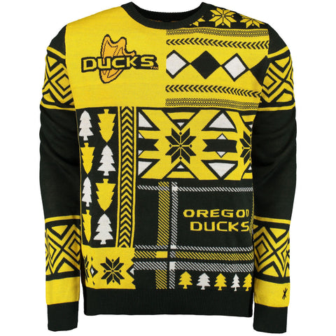 Oregon Ducks Patches Ugly Sweater