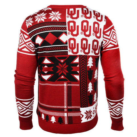 Oklahoma Sooners Patches Ugly Sweater
