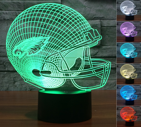 "Philadelphia Eagles ""Helmet"" - 3D LED Lamp/Night Light"