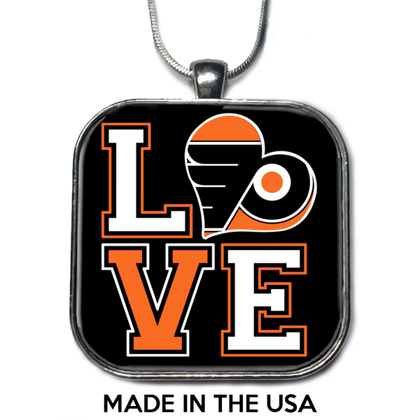 Love Philadelphia Flyers Necklace