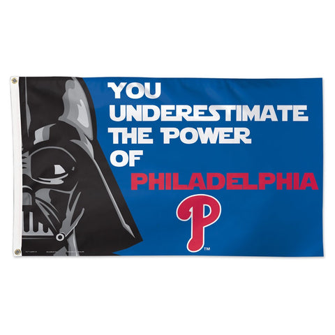 Philadelphia Phillies Darth Vader Deluxe 3' x 5' Flag