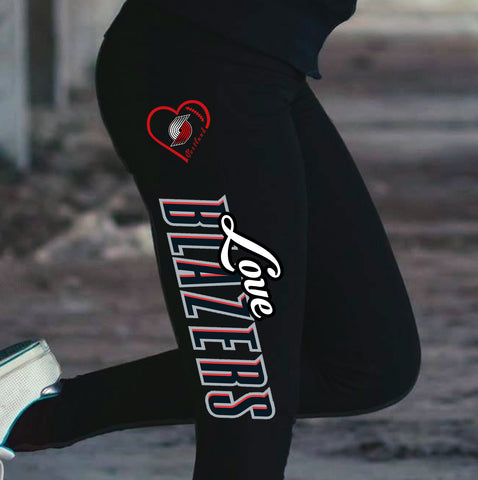 Love Portland Trail blazers Cotton Leggings