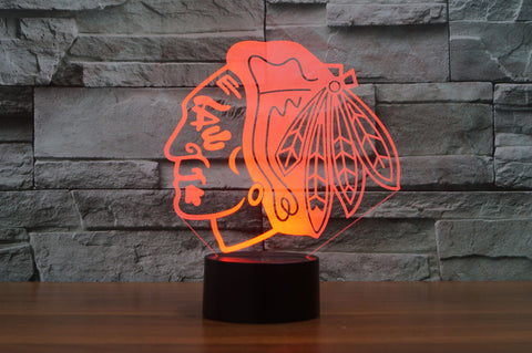 "Chicago Blackhawks ""Logo"" - 3D LED Lamp/Night Light"