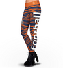 Chicago Bears Zebra Print Leggings