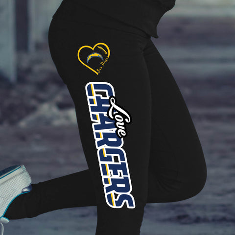 Love San Diego Chargers Cotton Leggings