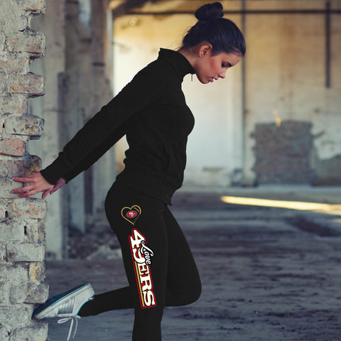 Love San Francisco 49ers Cotton Leggings