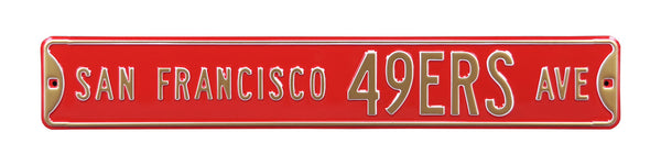 San Francisco 49ers Ave Sign