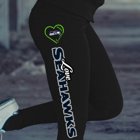 Love Seattle Seahawks Cotton Leggings