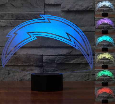 "San Diego Chargers ""Logo"" - 3D LED Lamp/Night Light"