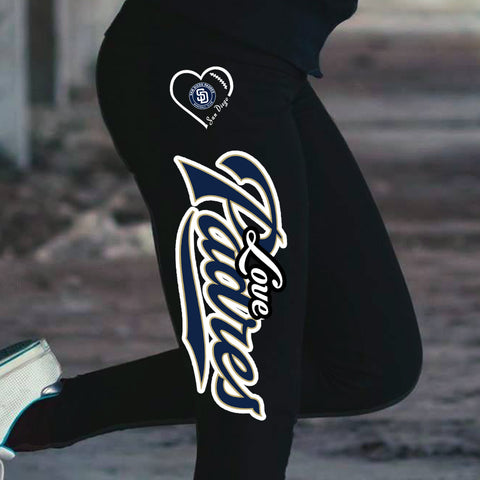 Love San Diego Padres Cotton Leggings