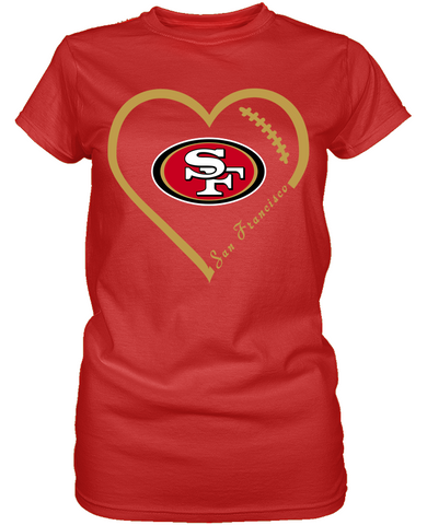 San Francisco 49ers Heart